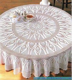 Patrones de carpetas y manteles en crochet