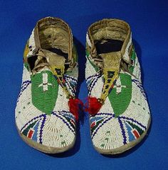Sioux Moccasins, 1890