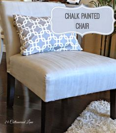 24 Cottonwood Lane: Chalk Painted Chair