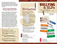 Bullying & SLPs brochure from the Stuttering Foundation