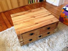 Palette table basse on pinterest - Table basse roulettes ...