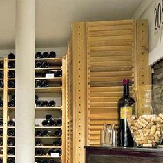 the air conditioner in this remodeled basement wine celler basement