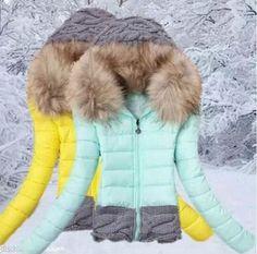 2014 New women's winter coat fur collar hooded cotton jacket coat jacket