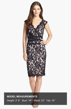 Tadashi Shoji Lace & Tulle Sheath Dress (Regular & Petite)   Nordstrom
