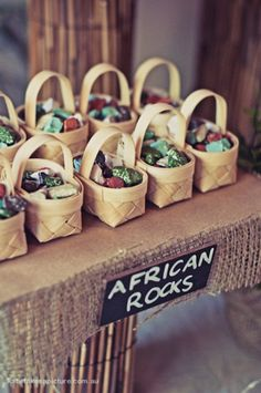 African party theme...goody bags