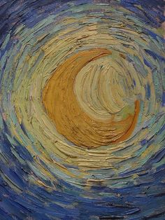 Vincent van Gogh - The Starry Night detail 1889