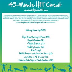 hitt workout, hiit workout, week workout