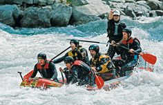 white water rafting - The Inn River, Tyrol Region, Austria