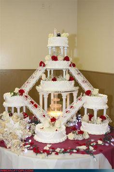 Fountain Wedding Cakes... #wedding #bridal #cakes