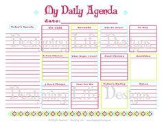 Daily Agenda Printable - Daily Planner Page - PDF To Do List Organizer
