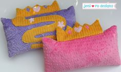 Pretty Princess Pillows- Cuddle™ Character Travel Pillows - Tutorial by @jeni ro designs  - Up on our blog, My Cuddle Corner http://shannonfabrics.com/blog/2014/05/02/cuddle-character-travel-pillows/ #CuddleCharacterPillows #CuddleCharacterTravelPillows #mycuddlecorner #princesspillows #Rapunzel