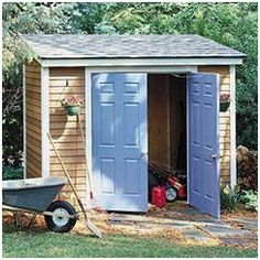 Order inexpensive, instant-download, DIY plans for this compact garden tool shed from PlansNow.com
