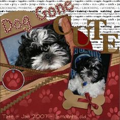 Dog scrapbook idea