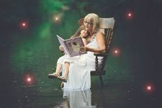 Grandmother and grand daughter photography, magical, lighting bugs, water photography, Lisa Karr Photography, Beloit Wisconsin, Find on Facebook