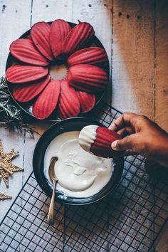 Rosemary & Strawberry Madeleines with White Chocolate