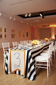table numbers photo by @Amanda Snelson Jaffe