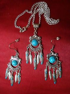 Turquoise Blue Jewelry Set.