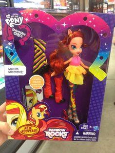 MY LITTLE PONY: Equestria Girls: ¡Muñeca Sunset Shimmer Rainbow Rocks en Walmart!