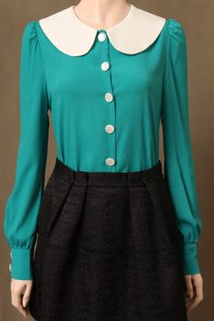 aqua peterpan collar blouse