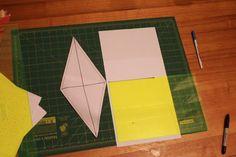 Siobhan Rogers: long line + short line = Diamond template for lonestar quilt
