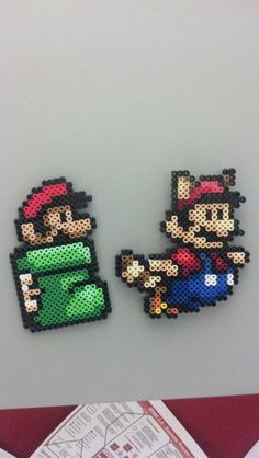 Perler Bead Mario Magnets
