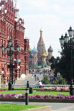 Moscow Russia. St. Basil's cathedral!!