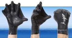 Webbed swimming gloves :D