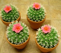 Cactus cupcakes perfect for a western-inspired party.