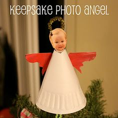 personalize your angel with your child's picture :) inspired by Usborne's book That's Not My Angel by Fiona Watt