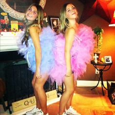 My best friend and I were loofahs for Halloween! #fashion #costumes #halloween #girls #bestfriend