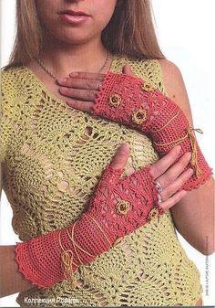 lovely fingerless gloves,,charted pattern