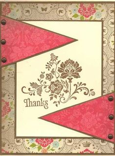 Thanks Vintage Style by lindahur - Cards and Paper Crafts at Splitcoaststampers
