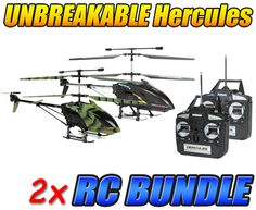 Hercules X and Camo Hercules Unbreakable 3.5CH RC Helicopter Bundle