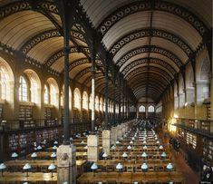 roof, libraries, paris, irons, gorgeous librari, bibliothèqu saintegenevièv, world history, france, new books