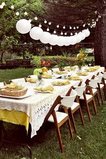 Outdoor party on pinterest outdoor dinner parties dinner parties a