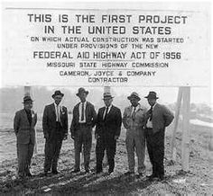 The 1950's also brought about the birth of our Interstate Highway System.  It was originally called the National Defense Highways and was suppose to provide military ground transport routes connecting 209 major cities with populations of 50,000 or more.