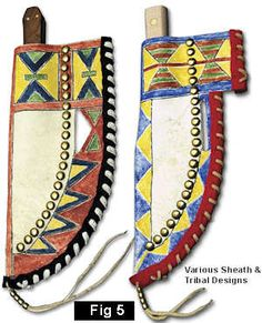 Making & Decorating a Parfleche Knife Sheath