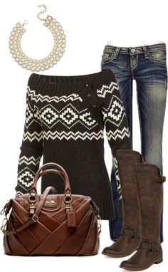 """cheap I like the buttons on the side of the sweater...""""coach bag and comfy sweater"""" love the boots, on Polyvore,COACH KRISTIN ELEVATED LEATHER SAGE ROUND SATCHEL,DESIGNER HANDBAGS WHOLESALE,$39.99"""