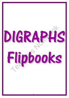 DIGRAPH FLIPBOOKS product from Learning101 on TeachersNotebook.com