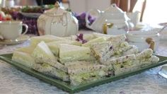 Tray of tea sandwiches recipes & tips for making them ahead of time.