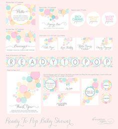 parti kit, parties, shower readi, pink, shower idea, kitty, pop parti, babi shower, baby showers