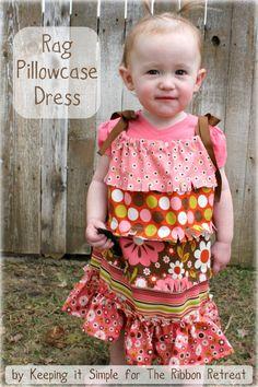 Rag Pillowcase Dress tutorial!