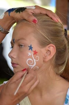 Face painting for AHG? fourth of july face painting, face paintings, facepaint