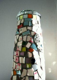 DIY mosaic vase