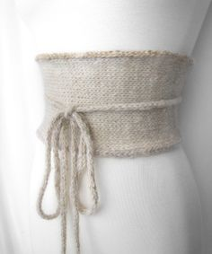 Knitted Obi Belt -No