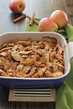 Overnight Baked Apple Cinnamon French Toast