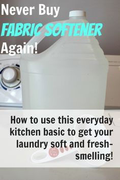 Make your own fabric softener for fresh-smelling, chemical-free laundry for just pennies!