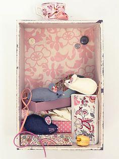 Sew matchbox mice - Sania Pell craft project :: allaboutyou.com