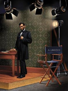 Mr. Lincoln Goes to Hollywood by Canadian illustrator, René Milot | Smithsonian.com
