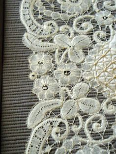 Battenburg Lace Hankie - Cindy Needham describes her process.  I off to find my old piece now!